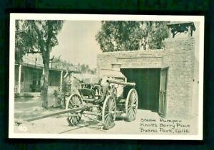 Postcard Knott's Berry Farm Ghost Town Fire Department Steam Pumper. KBF