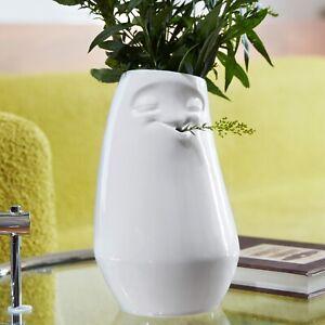 Tassen Laid Back Vase - flower, arrangement, porcelain, white, decoration,design