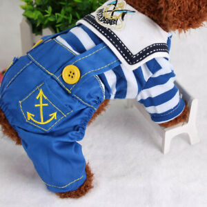Puppy Dog Pets Clothes Hooded Jean Cool Hoodie Soft Clothing Cute Coat Jacket
