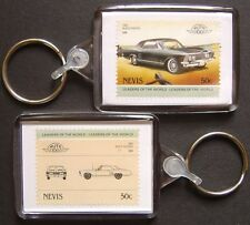 1963 BUICK RIVIERA Car Stamp Keyring (Auto 100 Automobile)