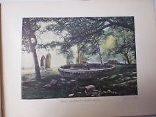 SUISSE BRETONNE/Gravure 19°in folio couleur/SAINT-HERBOR /COUPE  CHATEAU RUSQUEC