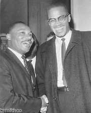 Martin Luther King Malcom X 8x10 Photo 002