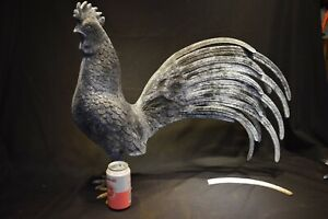 Large Vintage  CAST ALUMINUM or Zink ? Full Bodied ROOSTER COUNTRY FARM  Rare