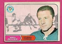 1968-69 OPC # 105 PENGUINS WALLY BOYER VG CARD  (INV# C1455)