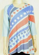 Before & Again mini dress tunic M Red White Blue Stars & Stripes USA