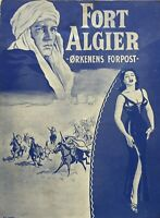 Fort Algiers Yvonne De Carlo Carlos Thompson 1953 Vtg Old Danish Movie Program