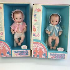 Lot Of 2 Vintage Newborn Baby Dolls Boy Girl Anatomically Correct Original Box
