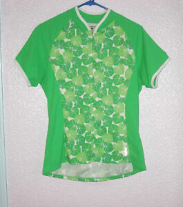 Shebeest CYCLING Size L JERSEY Frog LILY Pad UPF Pockets REFLECTIVE Racing ZIP