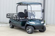 New 2022 Green Advanced Ev 48V Electric Utility Golf Cart 2 Passenger Flatbed