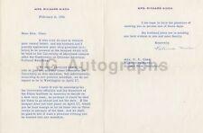 Pat Nixon U.S. First Lady Authentic Autographed Letter (Tls) 1956