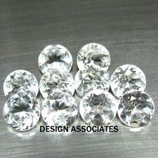 2 MM ROUND CUT WHITE ZIRCON ALL NATURAL AAA 10 PC SET