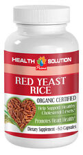 Red Yeast Rice (Organic) Healthy Cholesterol Level and Heart Health 1 Bottle