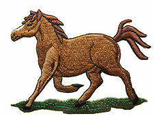 "3-1/4"" Embroidery Iron On Horse Applique Patch"