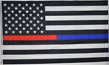 New listing 3x5 Usa Red Line Blue Line Flag Honor Police Firefighter Law Banner Fast Us Ship
