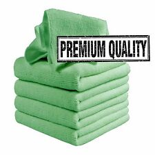 Microfibre Cleaning Cloths, 5 Pack, Green, Microfibre Dusters, Machine Washable