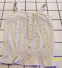 MUDD GIRLS TANK TOP SIZE LARGE 14 OATMEAL / CREAM EUC VERY CUTE