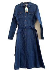 Size 16L BNWT Boden Belted Denim Dress