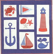 New NAUTICAL Applique Quilt Wallhanging Pattern 40x44