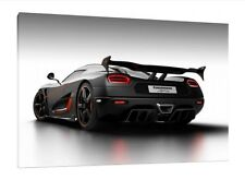 Koenigsegg Agera RS - 30x20 Inch Canvas - Framed Picture Print Wall Art Supercar