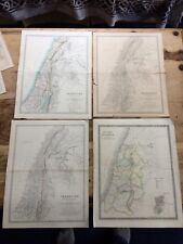 4 Old maps of Palestine ( W & A K Johnston, Henry Teesdale, W Blackwood & Sons )