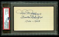 Dom DiMaggio (d2009) signed autograph 3x5 index card Baseball Player PSA Slabbed