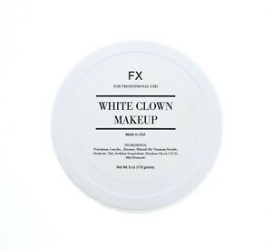White Clown Makeup - 6oz - For Professional Use