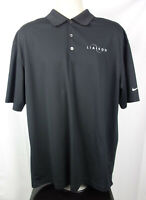 Nike Golf Mens XL Black Shirt Dri Fit Liaison Embroidered Chest Sleeve Swoosh