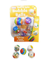 Babies Roll & Spin Activity Bath Toy Bubble Balls - Pack Of 5 - From Newborn