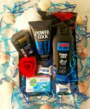 Father's Day Dad Men Gift Basket Bath & Body Spa Socks Coconut Dark Chocolate