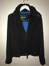 Superdry Original Windcheater Japan Men's Jacket Black and blue sz M *small HOLE