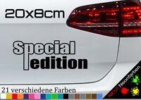 Special Edition Sonderausgabe Aufkleber limited Sticker JDM FUN Spruch 20x8cm