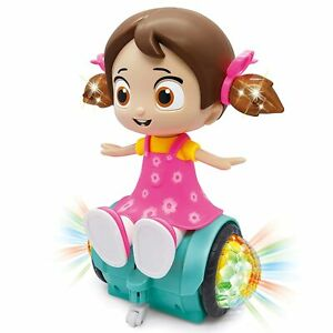 Rotating Musical Dancing Girl Doll Activity Play Center Toy (Assorted Colour)