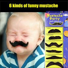 Black Moustache Halloween Mustache Prop Fake Beard Costume Party Whisker