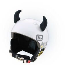 Stick-on horns for skiing helmet Black Devil ski bike Decoration Cover Horn