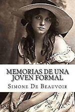 Memorias de una Joven Formal by Simone de Beauvoir (2016, Paperback)