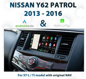 Nissan Y62 Patrol / WA60 Armada Ti - Apple CarPlay & Android Auto Integration