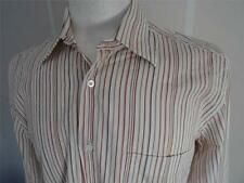 HUGO BOSS Largo -sleeve Camisa de rayas talla M / EU 40 244 CON
