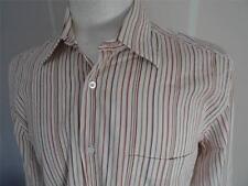 HUGO BOSS LUNGO -sleeve Camicia a righe taglia M / EU 40 244 W