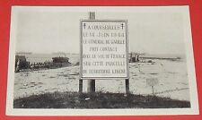 CPA CARTE POSTALE 1948 CALVADOS COURSEULLES CHARLES DE GAULLE LIBERATION
