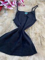 Skin to skin black cotton Camisole Top sleepwear nightwear size M