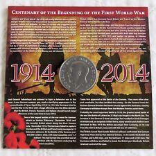 GEORGE V 1914 - 2014 CENTENARY OF WWI PROOF MEDAL - sealed pack
