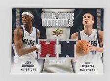 Howard  Nowitzki Mavericks 2009-2010 UD Dual Game Materials #DG-NH