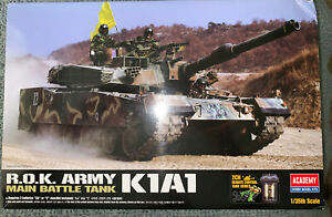 USA Seller Academy 2ch Motorized 1/35 R.O.K. Army K1A1 MBT Tank Model NIB OOP