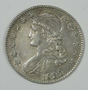 BARGAIN 1832 Capped Bust/Lettered Edge Silver Half Dollar ALMOST UNCIRCULATED