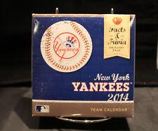 2014 New York YANKEES TEAM Desk Calendar MLB Baseball Facts&Trivia never opened