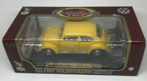 Yat Ming Road Tough 1967 Volkswagen Beetle 1:18 Yellow Diecast Car, Free Ship