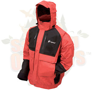S SM Frogg Toggs  Red  / Black Firebelly Toadz Toad Jacket Rain Gear Wear