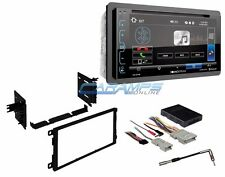 NEW SOUNDSTREAM CAR STEREO W/ BLUETOOTH GLASS PANEL TOUCHSCREEN & INSTALL KIT