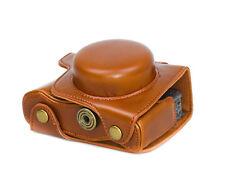 Camera Case Case for Olympus E-M10 Mark II Faux Leather Bag Braun CC1377c