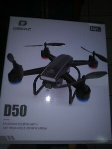 DEERC Drone D50 w/ 120'HD WiFi Camera.Live video.Photos.Case included.Adult.Kids
